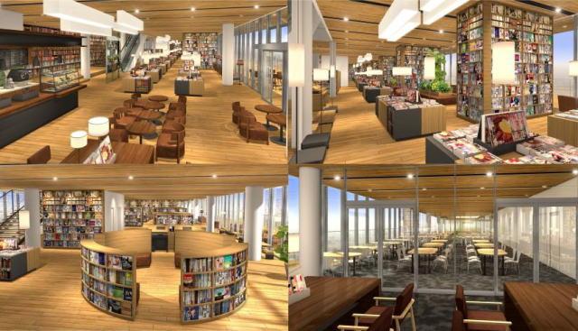 新徳山駅ビルは2018年、図書館・カフェ・本屋を融合した「新図書館」へ