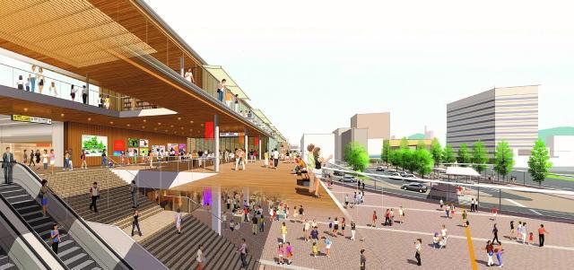 徳山駅の新しい駅ビル外観イメージ