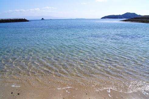 海水が綺麗な梶ヶ浜海水浴場