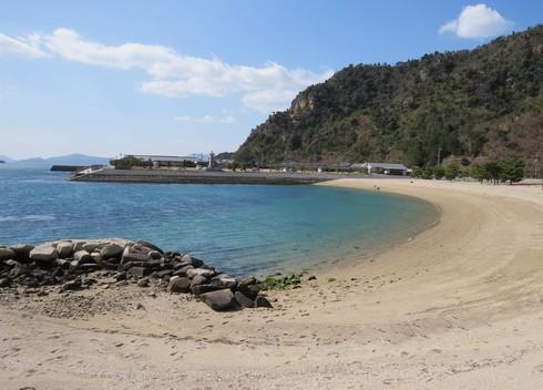 下蒲刈島の梶ヶ浜海水浴場