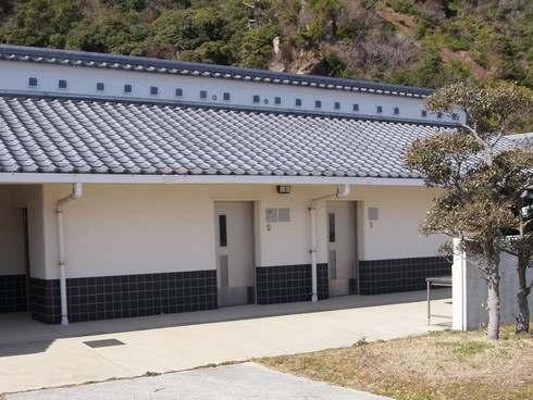 梶ヶ浜海水浴場の更衣室