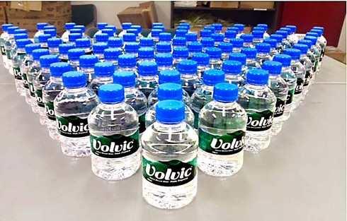 備蓄されているミネラル水