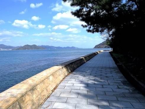 天神鼻の散歩道と海