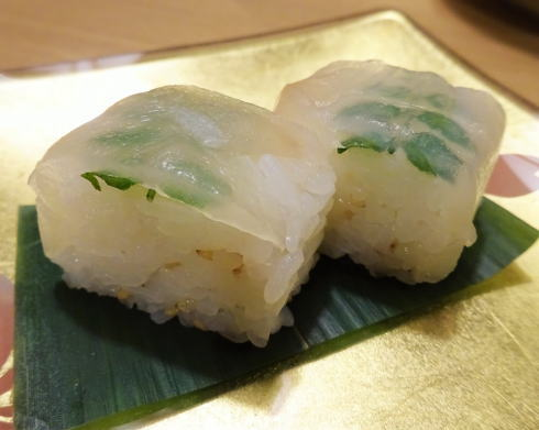 グランヴィア広島 茶寮 瀬戸内の棒寿司