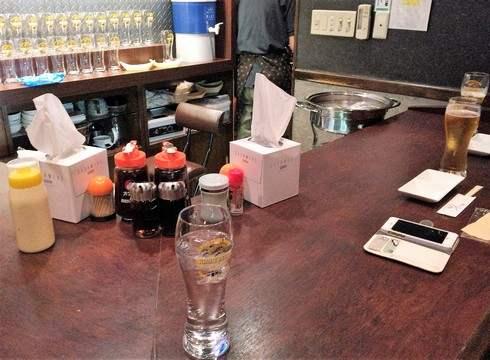 流川に 生ビールとたこ焼きの店 佐藤、店内の様子
