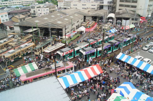 広島電鉄 路面電車まつり2016、車両展示から体験・中古部品販売も