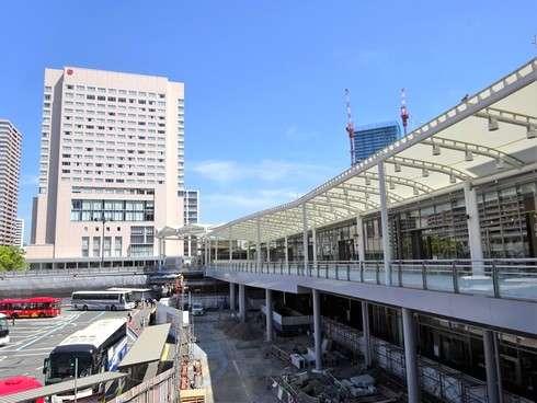変わってゆく広島駅北口、工事の様子