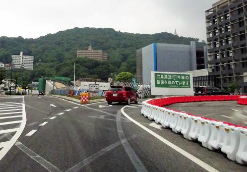 広島高速5号線 工事中の様子