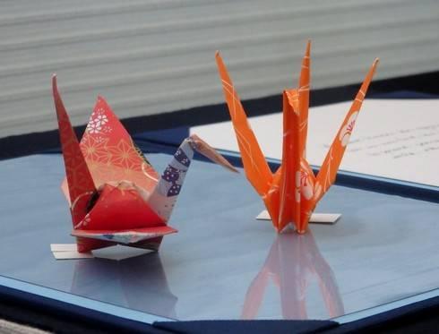 オバマ大統領の折り鶴 展示の様子4