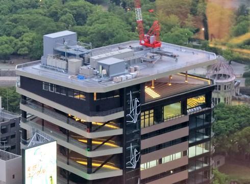 おりづるタワーの屋上・展望台