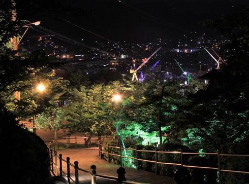 夜の千光寺公園 園内の様子