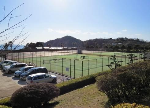 県民の浜のテニスコート