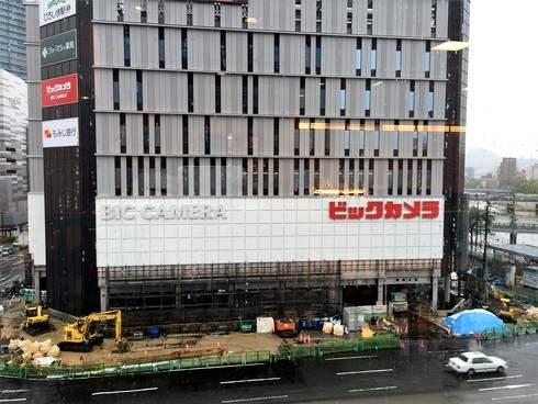 ビックカメラ広島駅前店 オープン、ホテル川島は10月末目指す