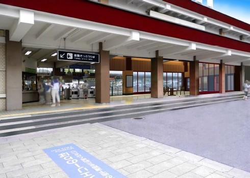 宮島口駅が和のイメージへリニューアル、外国語案内員も配置