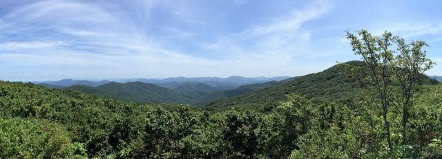 庄原 比婆山登山 烏帽子山からの風景