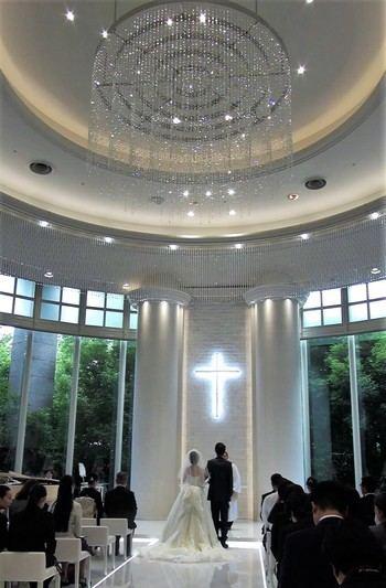 リーガロイヤルホテル広島のチャペル、広い空間