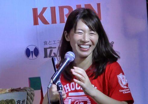 ちょうちん行列 司会に広瀬選手の妻・桃子さん