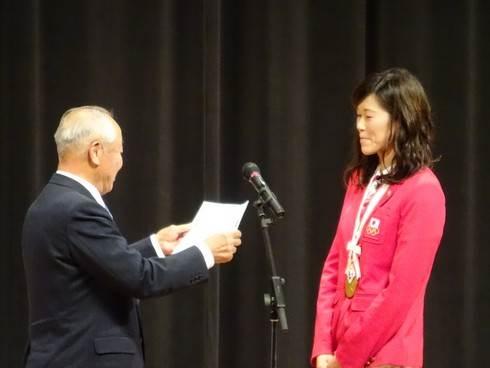 金藤さん、庄原市民栄誉賞
