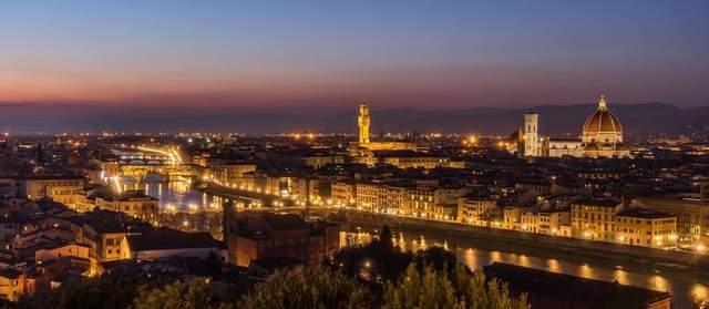 イタリア・フィレンツェの町並み