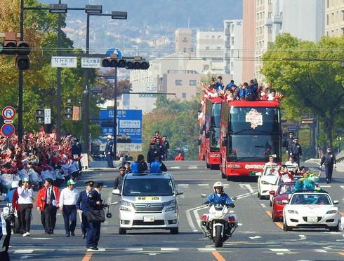 2016広島東洋カープ 優勝パレード パレード隊俯瞰写真
