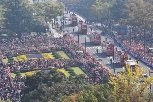 広島東洋カープ 優勝パレードの様子