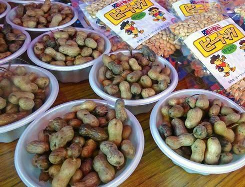 こうぬカーターピーナッツ収穫祭、塩茹でピーナッツ