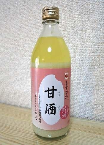 ますやの甘酒、お米と米麹だけで作ったノンアルコール