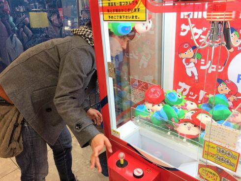 カープのクレーンゲーム(UFOキャッチャー) カープキャッチャー2