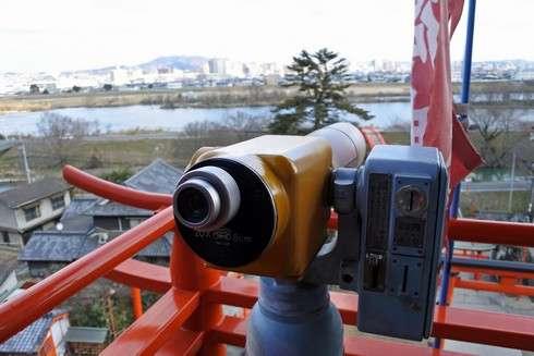 草戸稲荷神社 望遠鏡も
