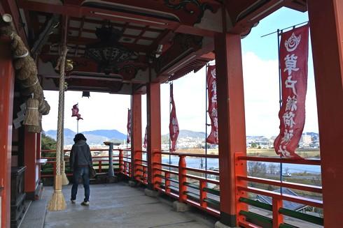 草戸稲荷神社 本殿の風景