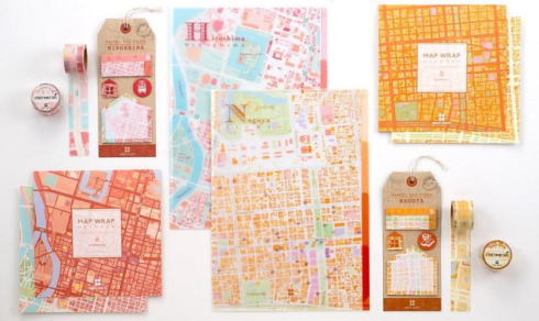 広島の地図が文具に!路面電車テーマにファイル・マステ・付箋など