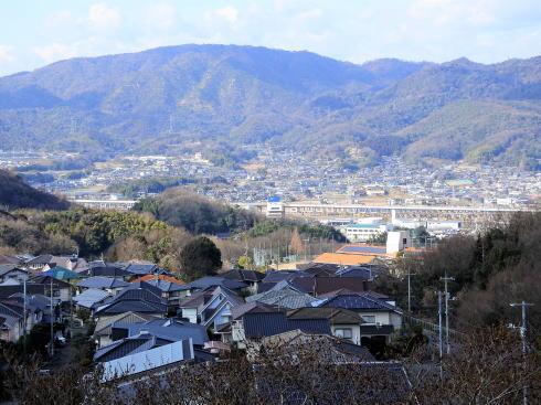 明王台展望台(配水池)から見た福山の風景