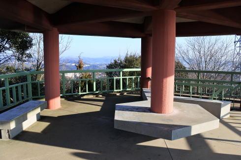 浄土寺山展望台の上の様子
