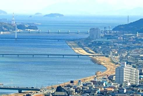 福山トライアスロン、芦田川沿いのランコース