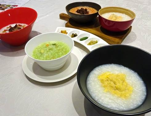 リーガ 中国料理店のお粥5種類