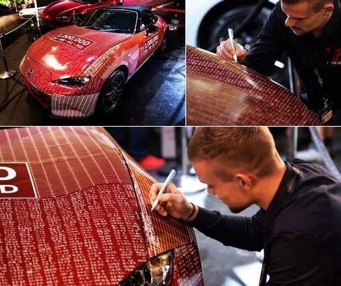 ロードスターの生産100万台達成記念車、広島フラワーフェスティバルのパレード参加へ