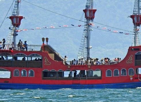 海賊船・海王で宮島へ