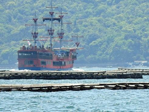 海賊船「海王」広島から宮島へ。瀬戸内海の風景も楽しめる