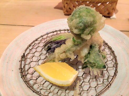 広島市 にかいのおねぎや笹木 コース料理の揚げ物