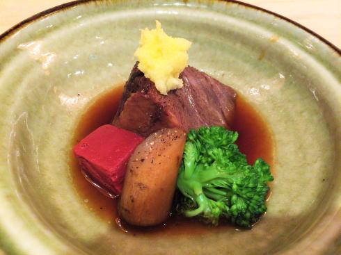 広島市 にかいのおねぎや笹木 コースの肉料理
