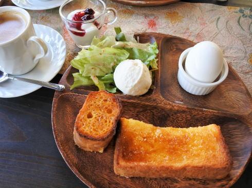 広島市南区 ボヌールケイ モーニングのフレンチトースト
