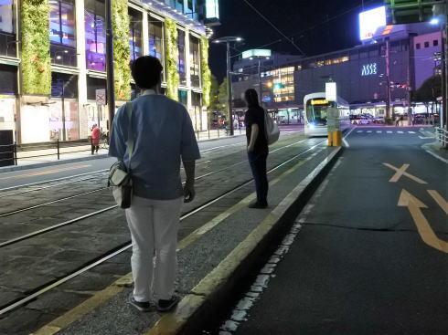 広島駅前 猿猴橋町電停の風景