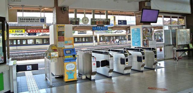 JR宮島口駅の改札