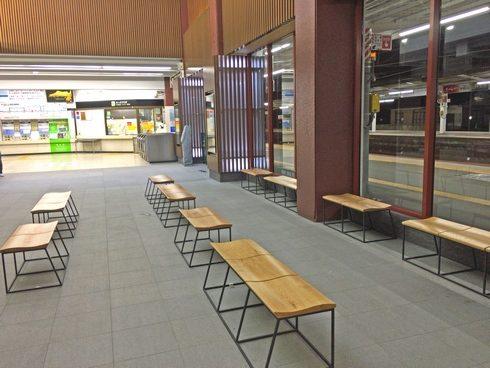 宮島口駅の待合スペース
