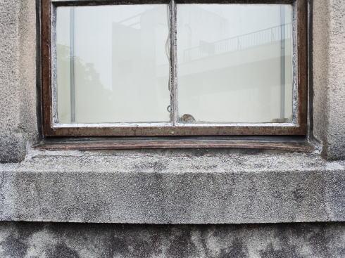 広島市 江波山気象館 被爆の爪痕
