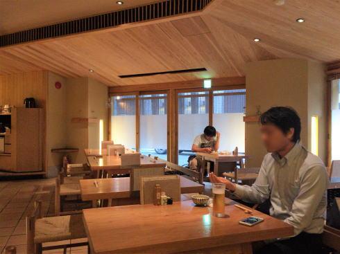 広島市中区 板蕎麦 香り家 店内の様子