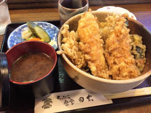 広島市西区 天ぷら食堂田丸 穴子天丼