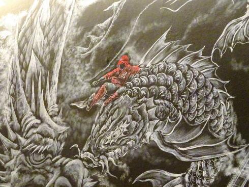 赤から 廿日市宮島街道店 店内のカープ壁画2