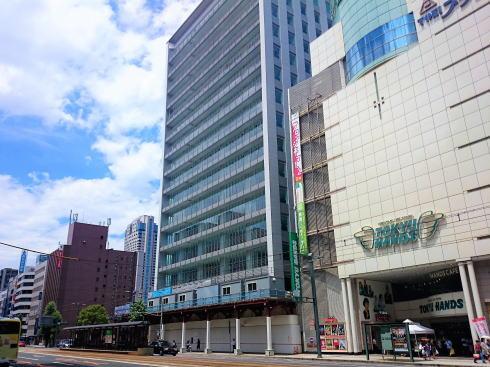 東急ハンズ広島店となり、スタートラム広島まもなく完成