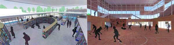 広島叡智学園 体育館や図書館など